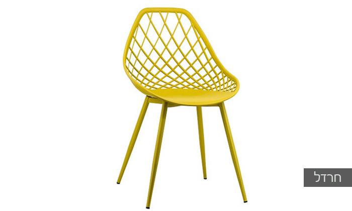 כסא אוכל דגם 7013 צבע חרדל