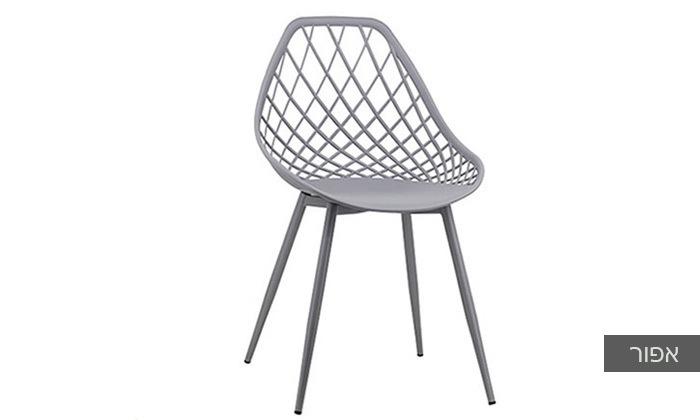 כסא אוכל דגם 7013 צבע אפור