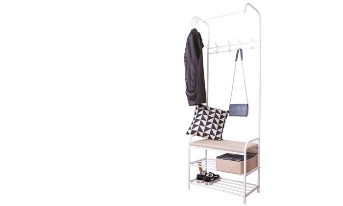 4 מתלה בגדים כולל ספסל