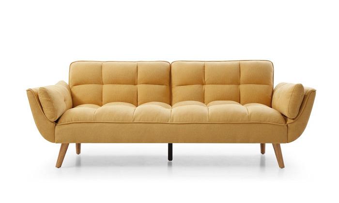 7 ספה תלת מושבית הנפתחת למיטה דגם 027