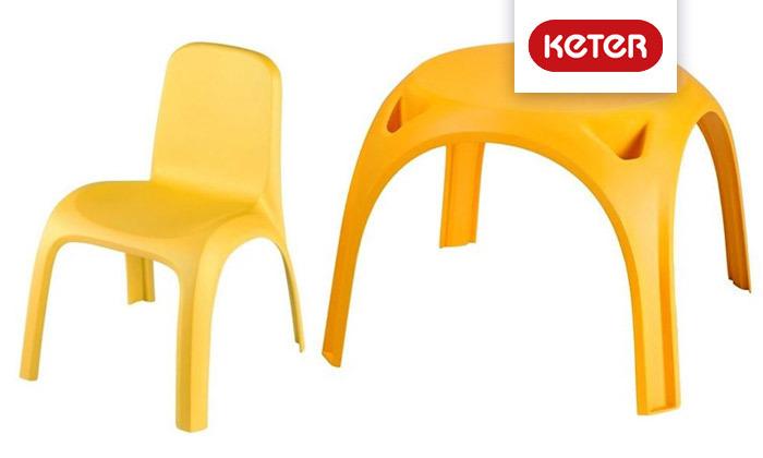 2 שולחן וזוג כיסאות לילדים דגם גילי של כתר