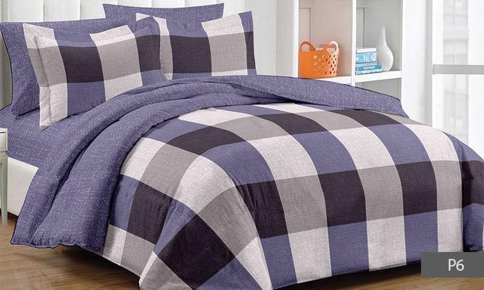 6 סט מצעים למיטת יחיד או מיטה זוגית 100% כותנה