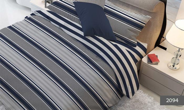 4 סט מצעים למיטת יחיד או מיטה זוגית 100% כותנה