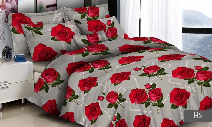 5 סט מצעים למיטת יחיד או מיטה זוגית 100% כותנה