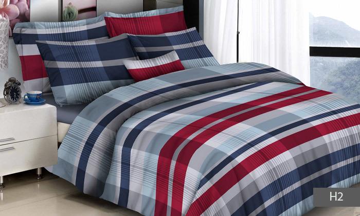 7 סט מצעים למיטת יחיד או מיטה זוגית 100% כותנה