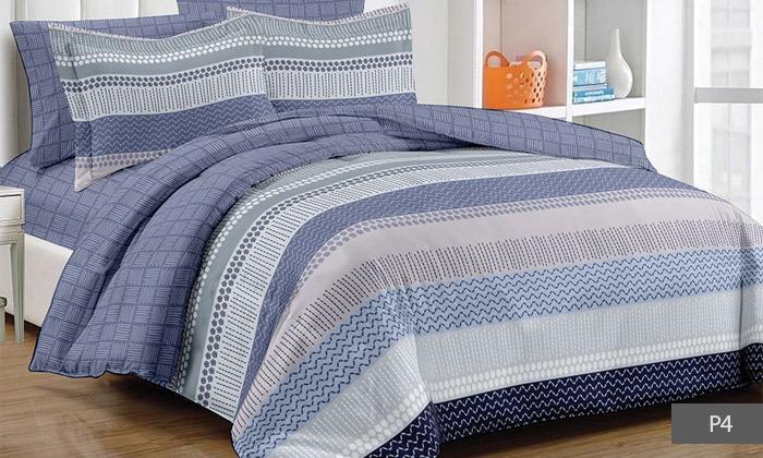 8 סט מצעים למיטת יחיד או מיטה זוגית 100% כותנה