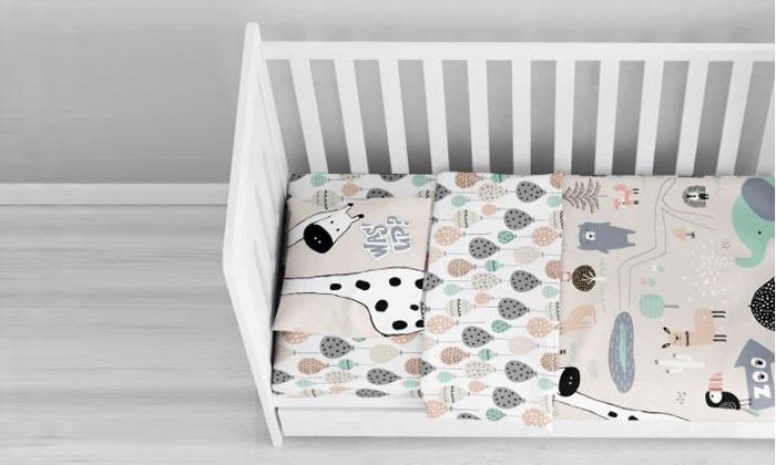 2 סט מצעים 100% כותנה למיטת תינוק ורדינון Vardinon דגם ספארי