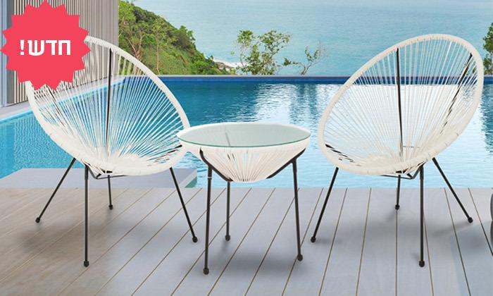 2 סט שולחן ושני כיסאות מחוטים