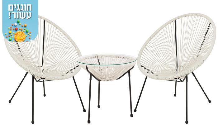 5 סט שולחן ושני כיסאות מחוטים