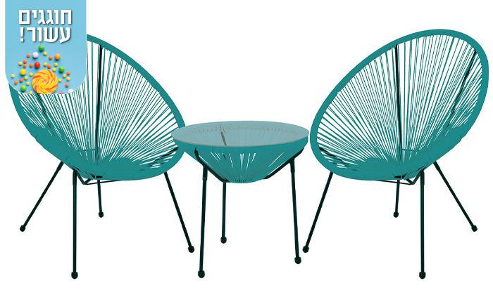 4 סט שולחן ושני כיסאות מחוטים