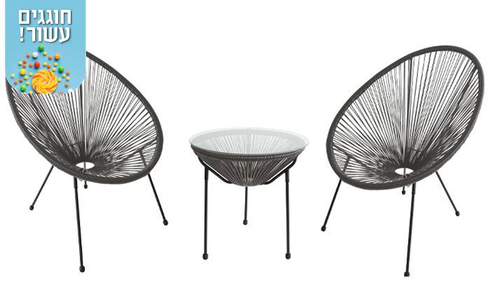 6 סט שולחן ושני כיסאות מחוטים