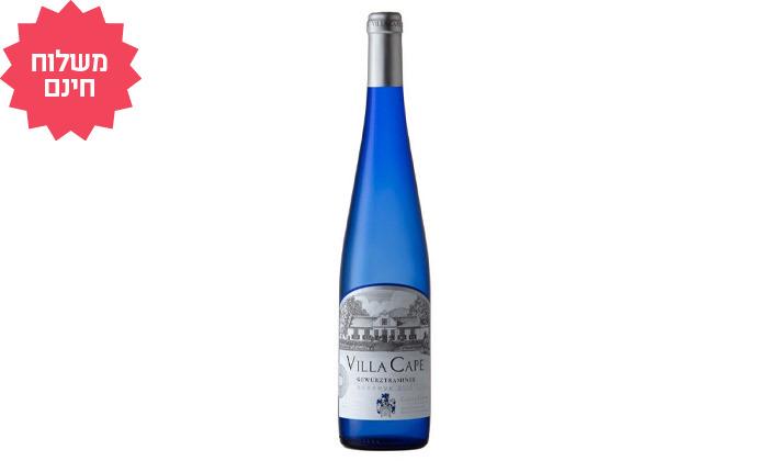 3 מארז 6 או 12 בקבוקי יין גווירצטרמינר Villa Cape במשלוח עד הבית - שר המשקאות