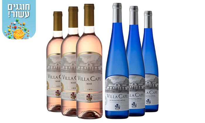 5 מארז 6 או 12 בקבוקי יין גווירצטרמינר Villa Cape במשלוח עד הבית - שר המשקאות
