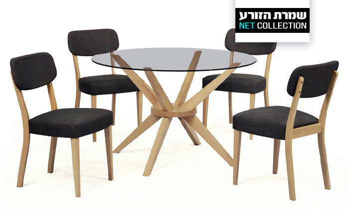 2 פינת אוכל עם שולחן לונה וכיסאות טוקיו של שמרת הזורע