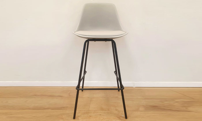 3 כיסא בר מרופד עם משענת דגם 759B