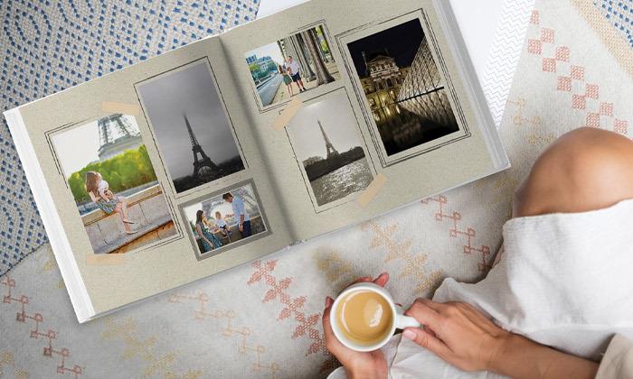 5 אלבום תמונות ענק בכריכה קשה וללא הגבלת עמודים באתר ZOOMA