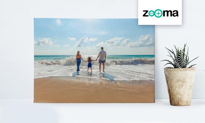2 הדפסת תמונה בעיצוב אישי על קנבס באתר ZOOMA
