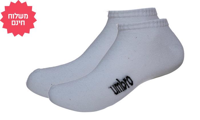 5 מארז 20 זוגות גרביים לגברים ולנשים UMBRO