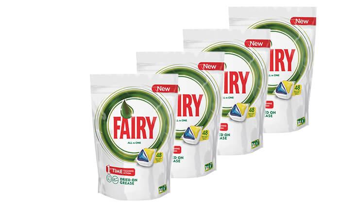 2 4 מארזי טבליות למדיח Fairy