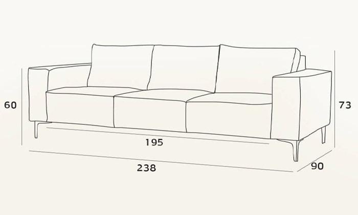 8 ספה תלת-מושבית של שמרת הזורע