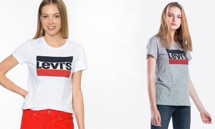 2 חולצות קצרות לנשים של ליוייס LEVIS עשויות 100% כותנה