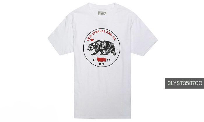 3 חולצות קצרות לגברים של ליוייס LEVIS עשויות 100% כותנה