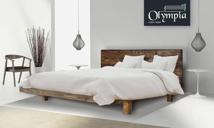 2 מיטה מעץ מלא הכוללת מזרן דגם 5013 של אולימפיה Olympia