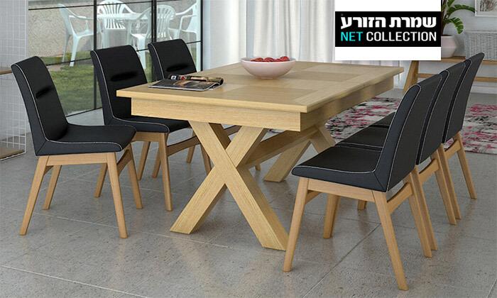 2 פינת אוכל נפתחת עם שולחן דגם מיקס וכיסאות דגם רוקי של שמרת הזורע