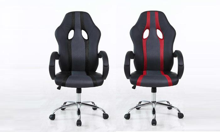 2 כיסא גיימרים על גלגלים