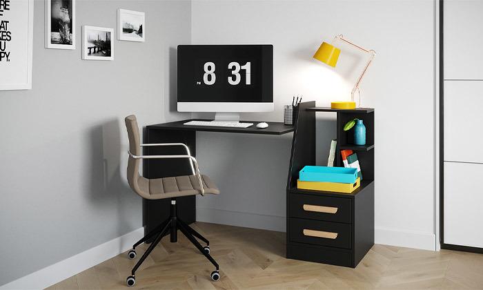 2 שולחן עבודה משולב מגירות אחסון