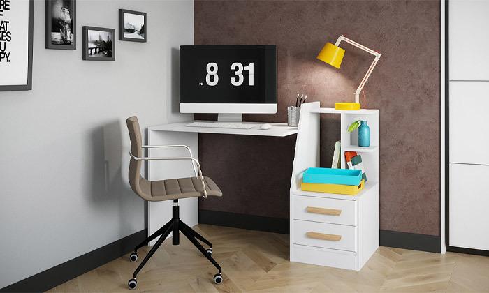 7 שולחן עבודה משולב מגירות אחסון