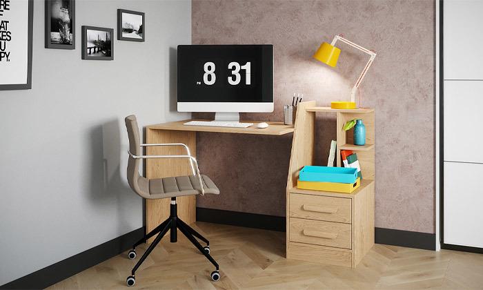 3 שולחן עבודה משולב מגירות אחסון