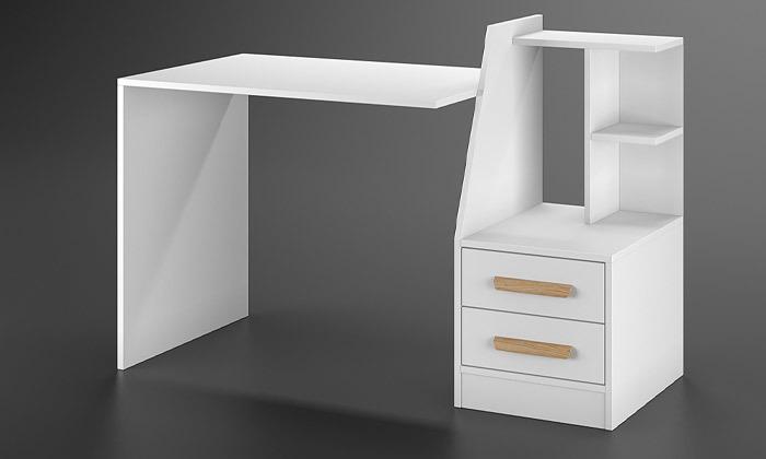 4 שולחן עבודה משולב מגירות אחסון