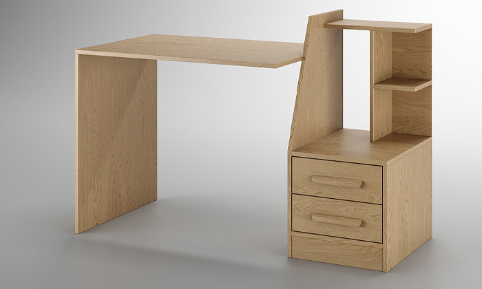 6 שולחן עבודה משולב מגירות אחסון