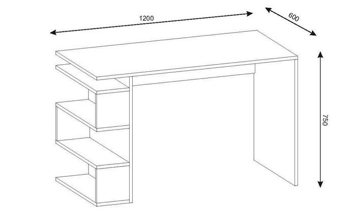 3 שולחן כתיבה עם מדפי צד, דגם סנייק