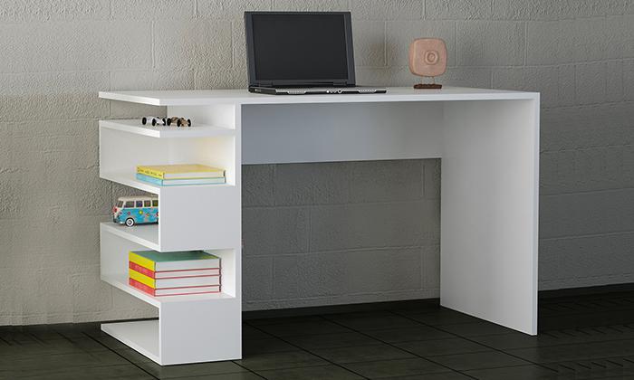 4 שולחן כתיבה עם מדפי צד, דגם סנייק