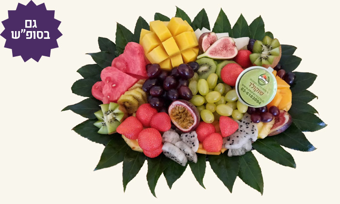 """2 מגשי פירות מפרי היופי, כולל משלוח לת""""א"""