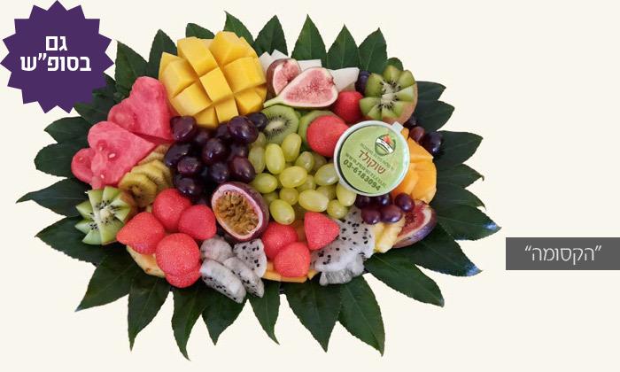 """3 מגשי פירות מפרי היופי, כולל משלוח לת""""א"""