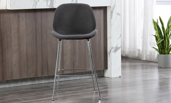 3 כיסא בר מרופד