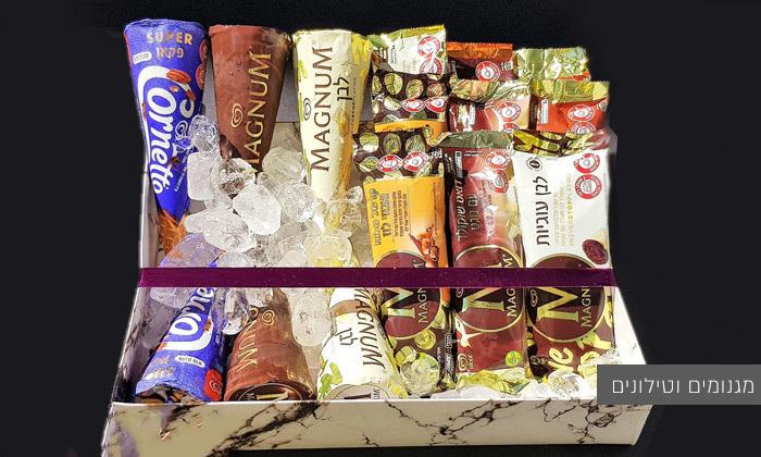 5 מארז גלידות - משלוח עד הבית למגוון ערים בין נתניה לאשדוד