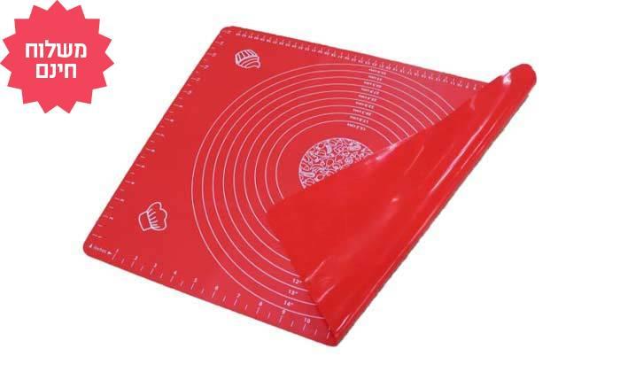 6 משטח סיליקון להכנת בצק - משלוח חינם