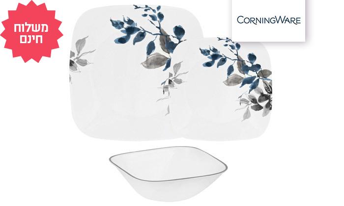 2 סט צלחות קורנינג CORNING CORELLE ל-12 סועדים, משלוח חינם