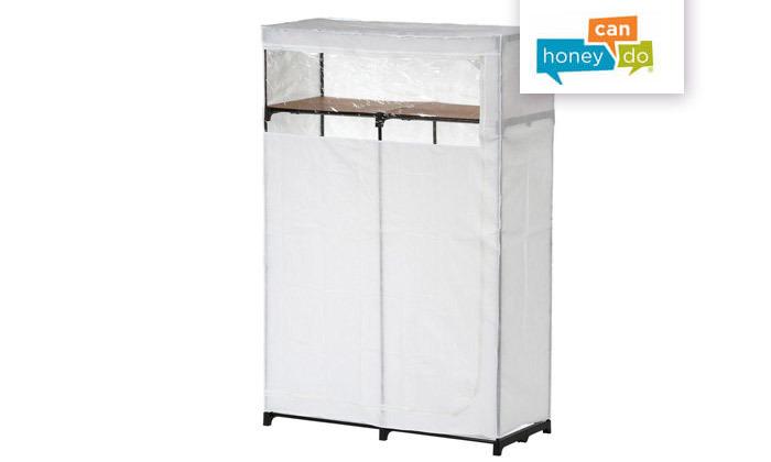 2 ארון אחסון נייד עם כיסוי מבית HONEY CAN DO