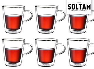 6 כוסות דופן כפולה של סולתם