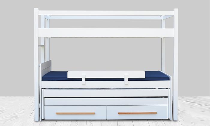 2 מיטת ילדים ונוער לבחירה בעלת מעקה בטיחות