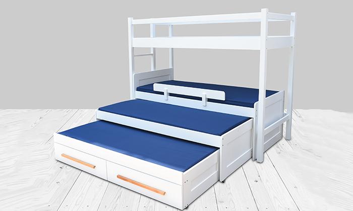 3 מיטת ילדים ונוער לבחירה בעלת מעקה בטיחות