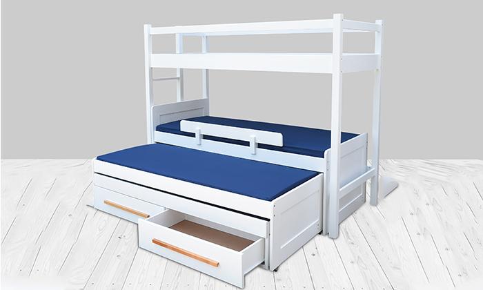 4 מיטת ילדים ונוער לבחירה בעלת מעקה בטיחות