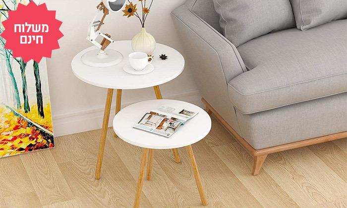 6 שני שולחנות קפה לסלון דגם MILANO, משלוח חינם