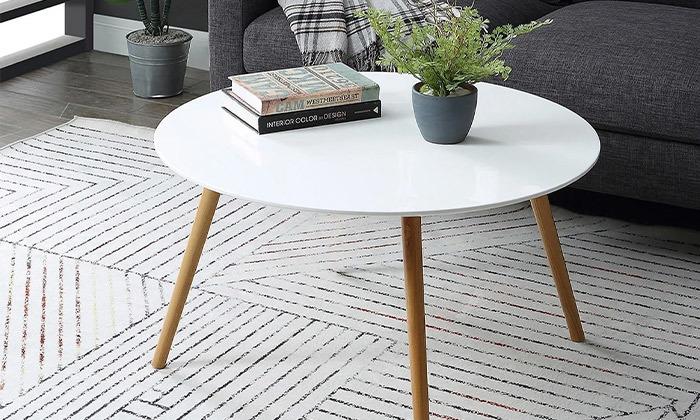 2 שולחן קפה עגול לסלון דגם VENTO, משלוח חינם