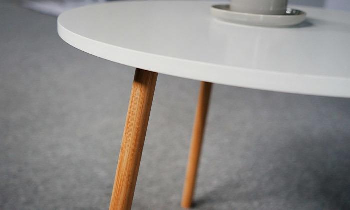 3 שולחן קפה עגול לסלון דגם VENTO, משלוח חינם